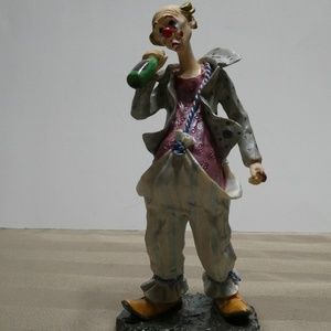 Other - CLOWN porcelain this one has a bottle in his hands